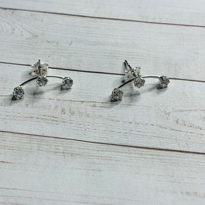Jewelry - Sterling silver three stud crawler earrings